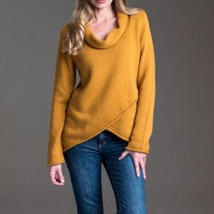 """PURE HANDKNIT """"attention"""" cowl sweater marigold"""
